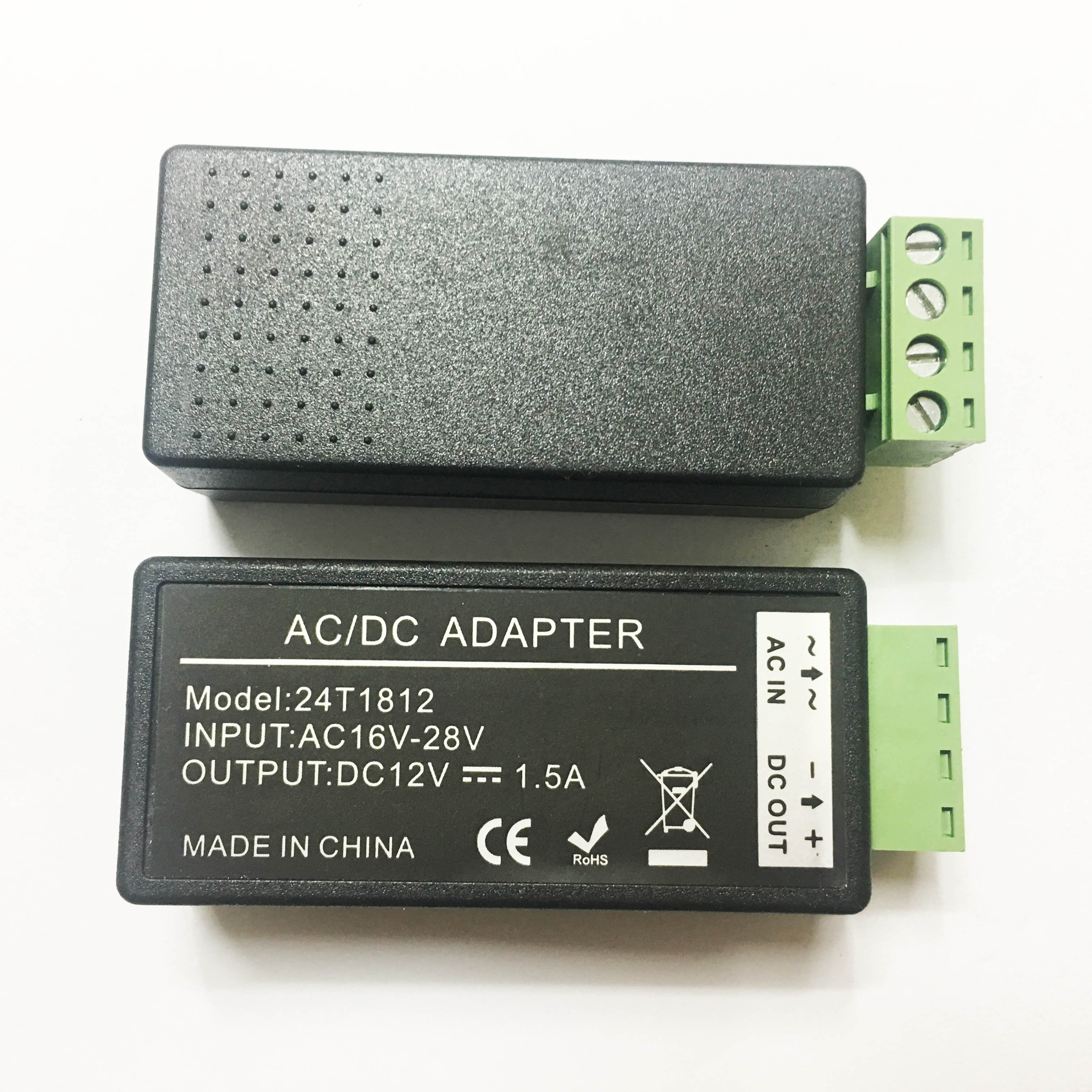 AC 24V to DC 12V 1.5A Power Supply Adapter Converter